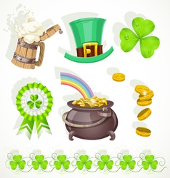 Saint Patricks day elements set for design vector image vector image