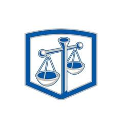 Scales of Justice Shield Retro vector image vector image