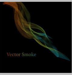 Smoke multicolored on blackground vector