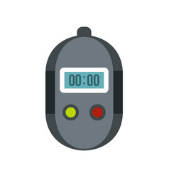 stopwatch icon flat style vector image