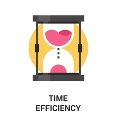 time efficiency icon concept vector image vector image