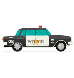 Vintage black police car with the sheriffs star vector