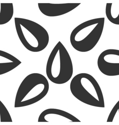 Drop icon seamless pattern on white background vector