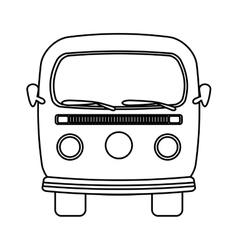retro van vehicle icon vector image