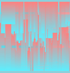 Glitch background futuristic city vector