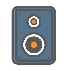 Audio monitor colorful line icon sound speaker vector