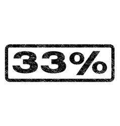 33 percent watermark stamp vector image