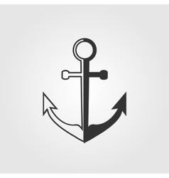 Black anchor icon vector