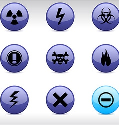 Warning icons vector