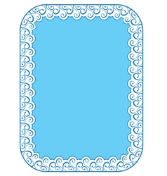 Blue elegant frame on white background vector