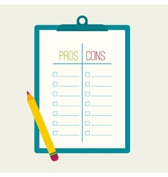 Pros and cons list vector