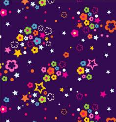 floral celestial sky vector image