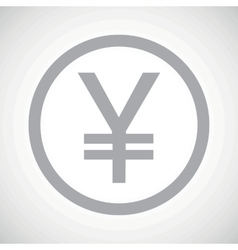 Grey yen sign icon vector