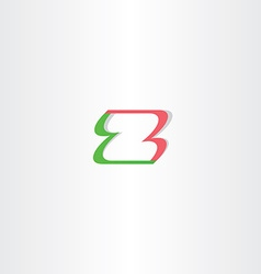Letter z green red logo element design vector