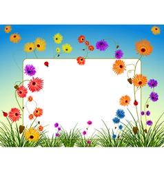Flowers backgound vector