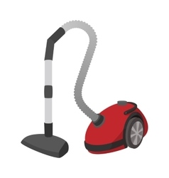 Modern vacuum cleaner cartoon icon vector