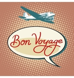 Bon voyage plane tourism flights vector