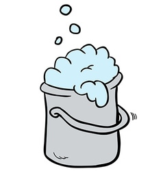 Freehand drawn cartoon cleaning bucket vector