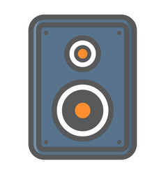 Audio monitor colorful line icon sound speaker vector
