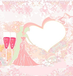 Ballroom dancers - invitation vector image