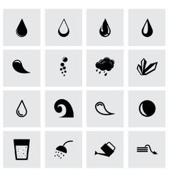 black water icon set vector image