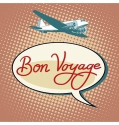 Bon voyage plane tourism flights vector