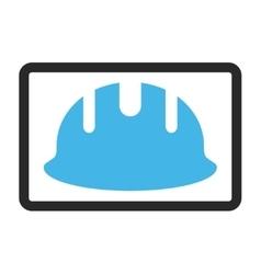 Builder hardhat framed icon vector