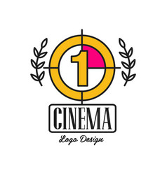 cinema or movie logo template creative design with vector image vector image