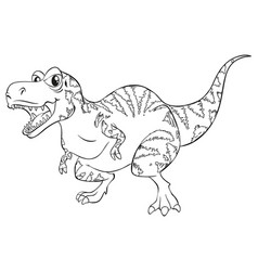Doodle animal for t-rex dinosaur vector