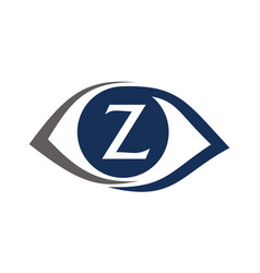 eye care solutions letter z vector image