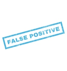 False positive rubber stamp vector