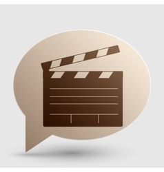Film clap board cinema sign brown gradient icon vector