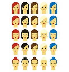 girls whitebg vector image