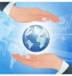 Global Business and Environment Protect vector image