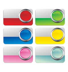 glossy cards vector image