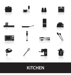 home kitchen icon eps10 vector image vector image