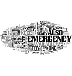 It is now or never prepare for a home emergency vector