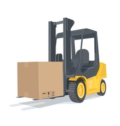 Loader car with box vector image vector image