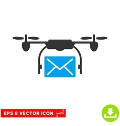 Mail Delivery Drone Eps Icon vector image vector image