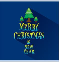 Merry christmas greeting design vector
