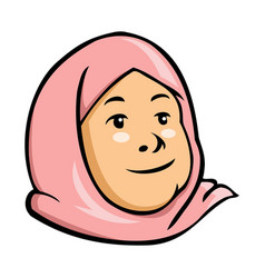 moslem kid girl vector image vector image