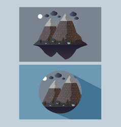 Nature night outdoor design concept set of nature vector