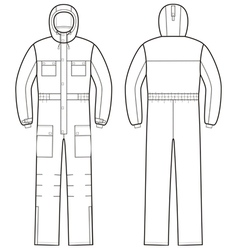 Overalls with hood vector