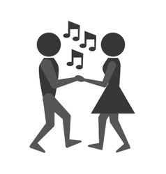 People dancing icon design vector