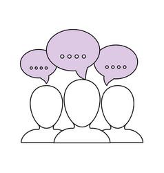 People talking pictogram vector