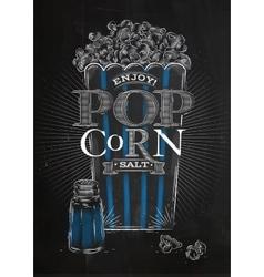 Poster popcorn salt black vector