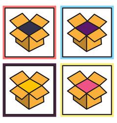 set of dropbox color icon realistic icon or logo vector image
