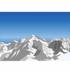 snow landscape vector image vector image