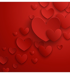 Valentine abstract red vector