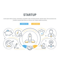 Website banner and landing page startup vector